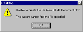 Cannot create file – February 13, 2007