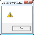 Creative WaveStudio - ! – April 21, 2007