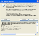 Error Message Generator – February 27, 2007