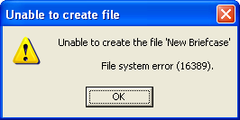 File system error – May 23, 2007