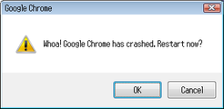 Google Chrome Crash – October 22, 2008