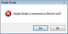 Google Chrome Unresponsive – October 22, 2008