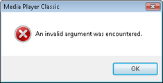 Invalid argument – April 29, 2007