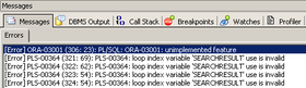 Oracle Unimplemented Feature – March 28, 2015