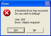 Runtime error – October 21, 2006