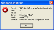 Script error – October 24, 2006