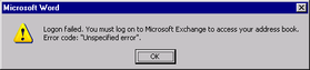 Unspecified Error – January 14, 2007